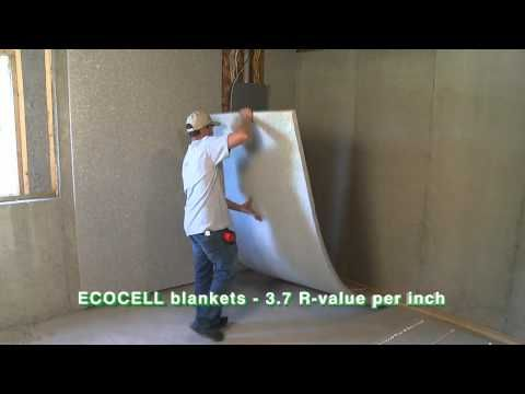 Ecocell batt and blanket insulation by cms insulation Basement blanket insulation