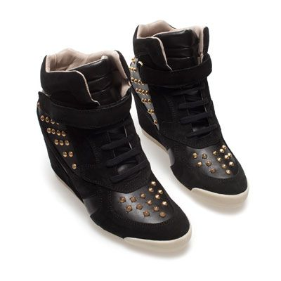 Wedge studded sneakers from zara