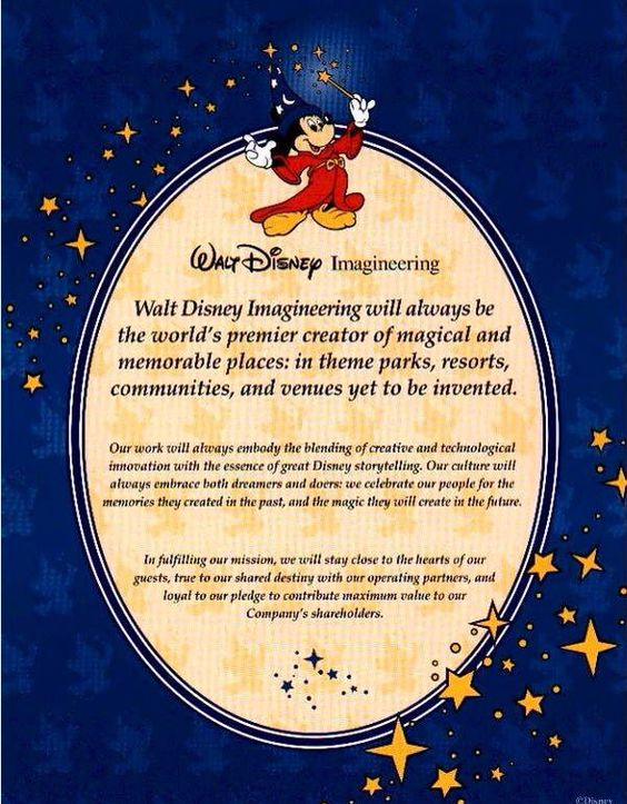 Walt disney world vision statement