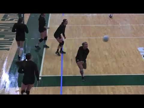 Michigan St Volleyball Defensive Run Thru And Ball Control Drill Youtube Volleyball Running Drills Coaching Volleyball