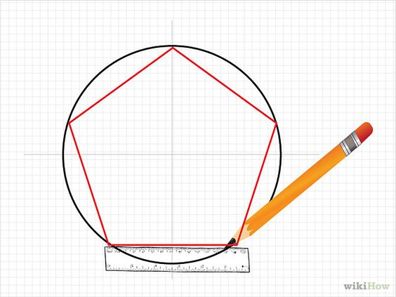 how to draw a pentagon for 5 pointed star porch decor