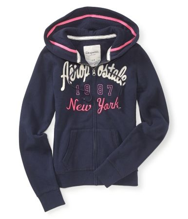 Aero 1987 New York Full-Zip Hoodie $19.80 USD http://www.aeropostale.com/family/index.jsp?categoryId=11327052=3534618.3534619.3534623.3541050.3536151