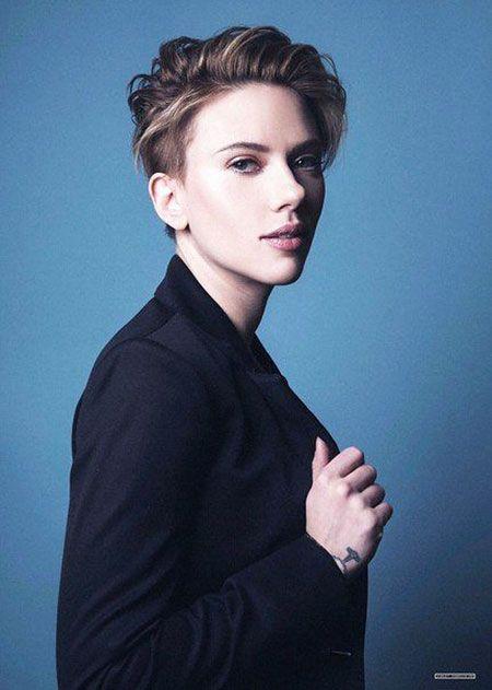 Scarlett Johansson Suho Sehun  30 meilleurs cheveux courts de Scarlett Johansson