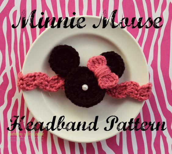 Minnie Mouse Headband Pattern - Crochet | Patrones de diademas ...