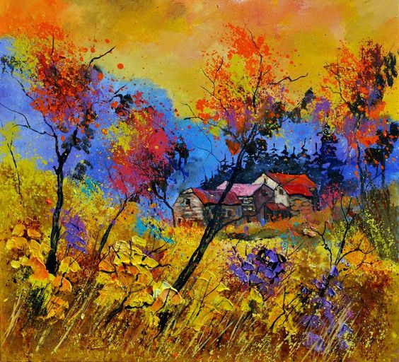 Oil paintings and watercolors by pol ledent