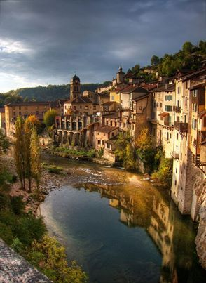"""Pont en Royans, France, known to locals as """"the hanging village."""""""