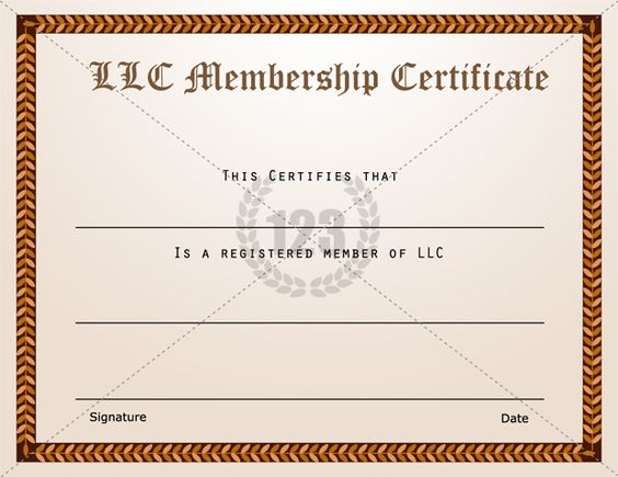 Membership Certificate Templates Best Quality Llc Free Download