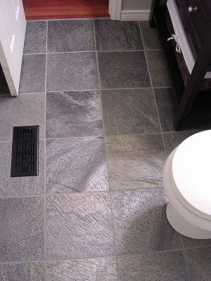 Grey tiles slate bathroom and freckles on pinterest - Forever tile and stone ...
