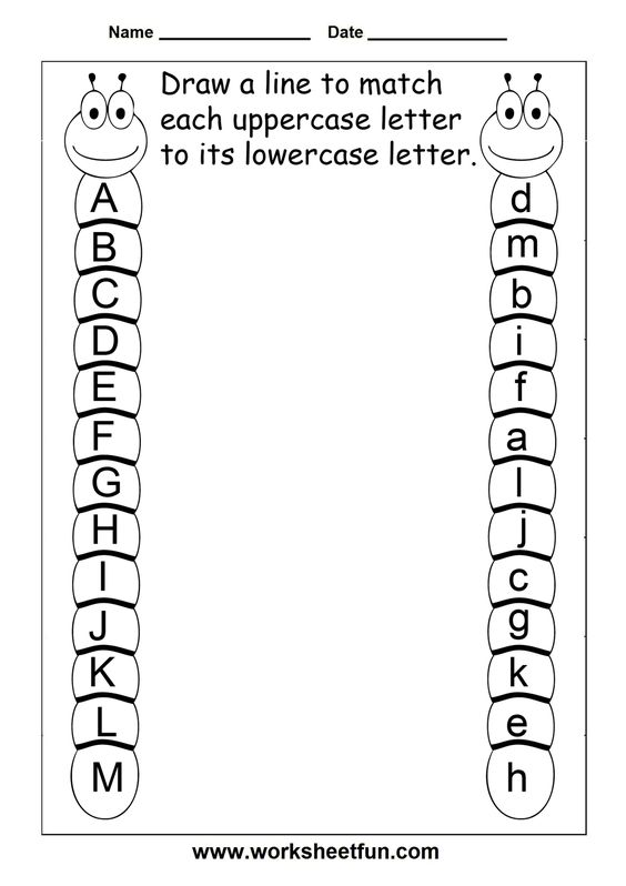 Letter A Preschool Worksheets | Match Uppercase And Lowercase ...