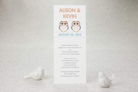 Tea-length Wedding Invitations - Love Owlways | MagnetStreet