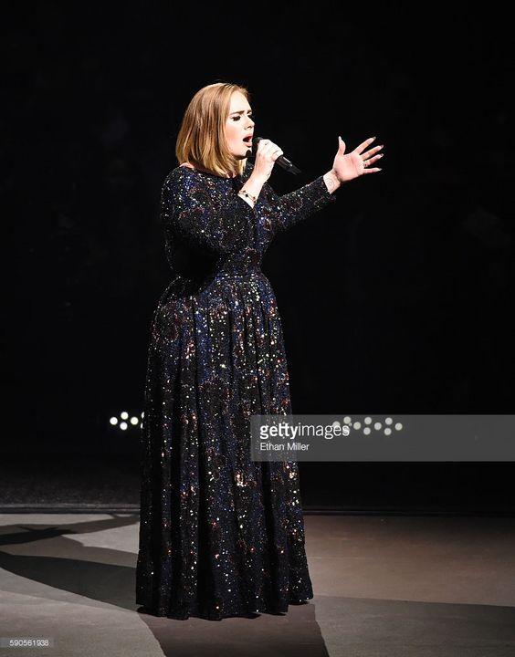 Singer/songwriter Adele performs at Talking Stick Resort Arena on August 16, 2016 in Phoenix, Arizona.