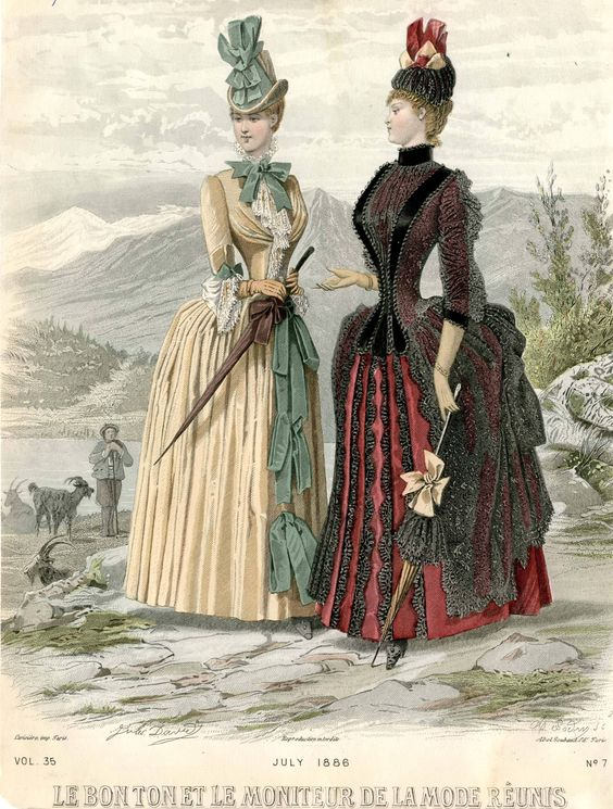 Le Bon Ton et le Moniteur de la Mode Réunis 1886