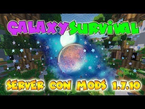 Galaxy Survival Server Con Mods 1 7 10 Minecraft No Premium Sin Lag Server Minecraft Mod