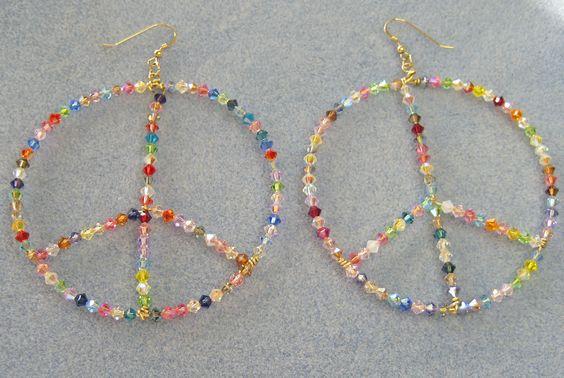 14 KT Gold Filled Peace Earrings #2808