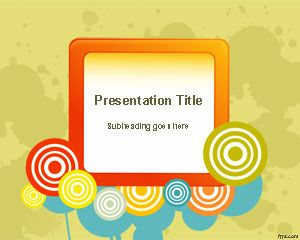 Color Wheel PowerPoint Template Is A Free Colorful