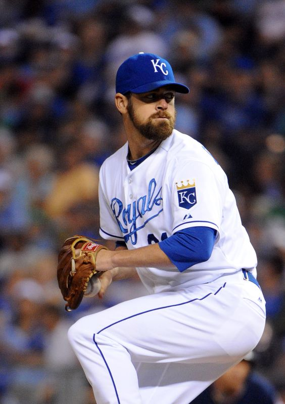 CrowdCam Hot Shot: Kansas City Royals relief pitcher Louis Coleman delivers a pitch against the Cleveland Indians in the sixth inning at Kauffman Stadium. Photo by John Rieger