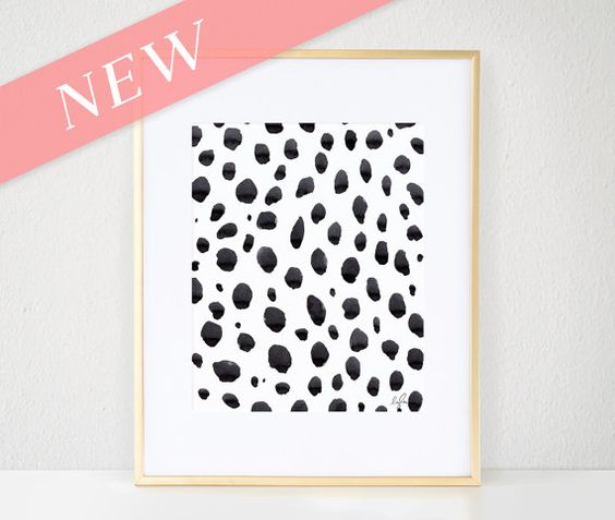 Print - Watercolor, Dalmatian Dots