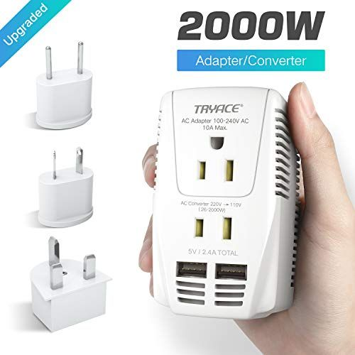 If You Travel And Need To Make Sure Your Electronics Are Safe From Power Surges Then You Need This Adapter Definitely Worth Th Voltage Converter Usb Converter