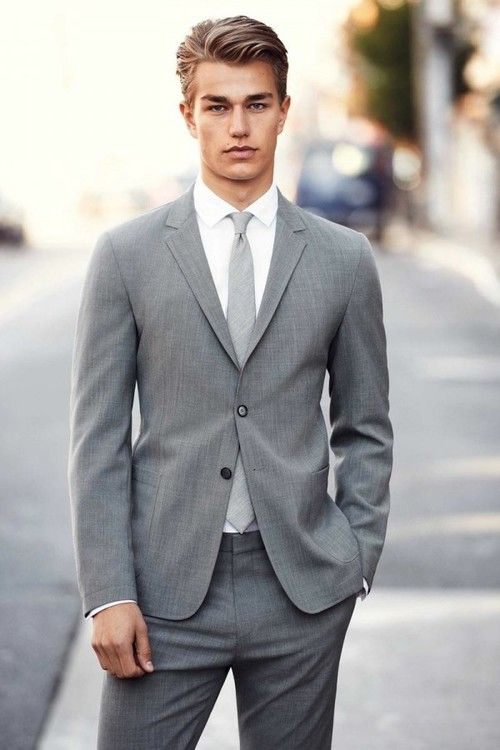 A beautiful man in a beautiful light gray suit! | Candy Men