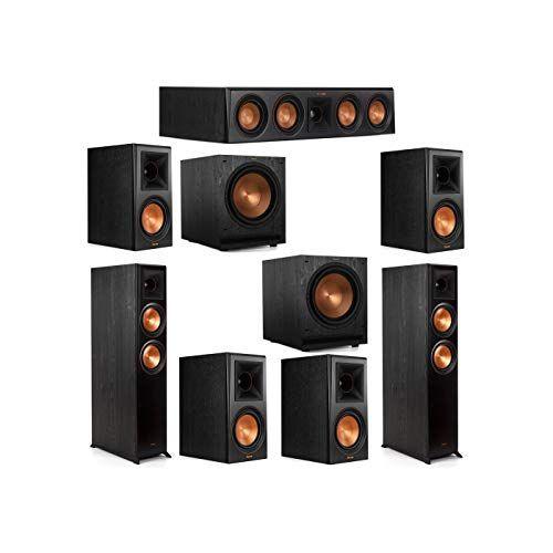 Klipsch 7 2 System With 2 Rp 6000f Floorstanding Speakers 1 Klipsch Rp 404c Center Speaker 4 Klipsch Rp 600m Surroun Surround Speakers Klipsch Center Speaker