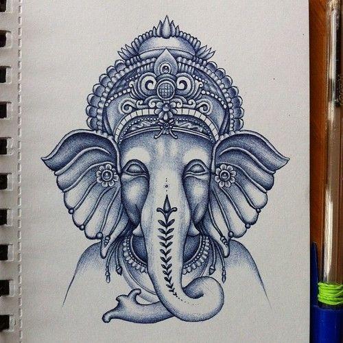 Aliexpress Com Buy India Elephant God Tattoos Cool: Posts, Drawings And Ganesha