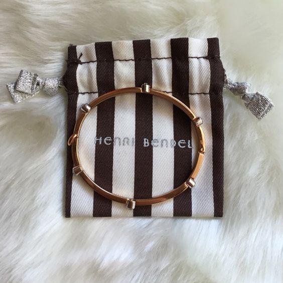 Henri Bendel Rose Gold Color Bangle Good condition with some light wear. henri bendel Jewelry Bracelets