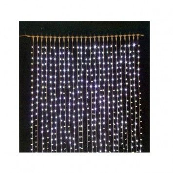 Guirnalda tipo cortina con 128 luces led de color blanco - Tipos de luces led ...