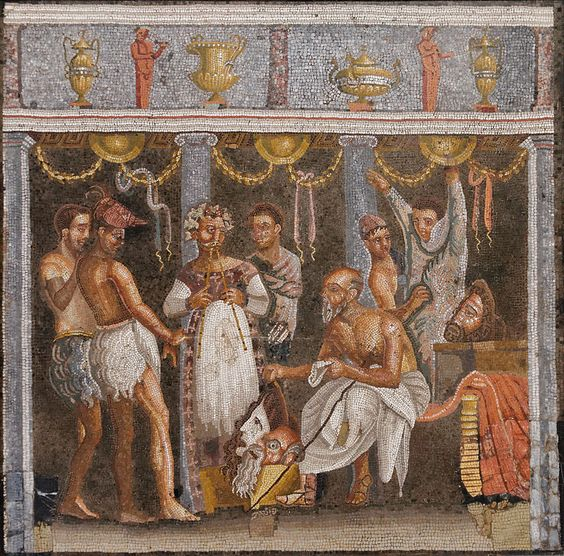 Choregos actors MAN Napoli Inv9986 - Culture of ancient Rome - Wikipedia, the free encyclopedia