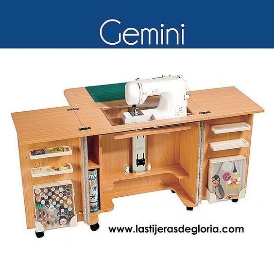Mueble para m quina de coser gemini muebles maquina de for Muebles geminis