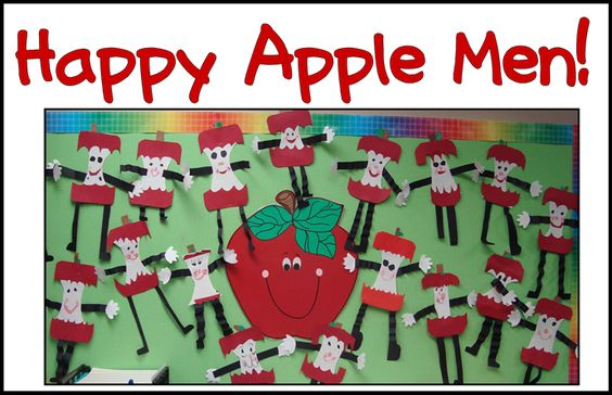 super cute apple men--will definitely have to do this next year!