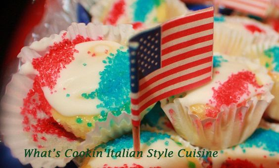 What's Cookin' Italian Style Cuisine: Patriotic Red White And Blue Cupcake Tribute Recipe
