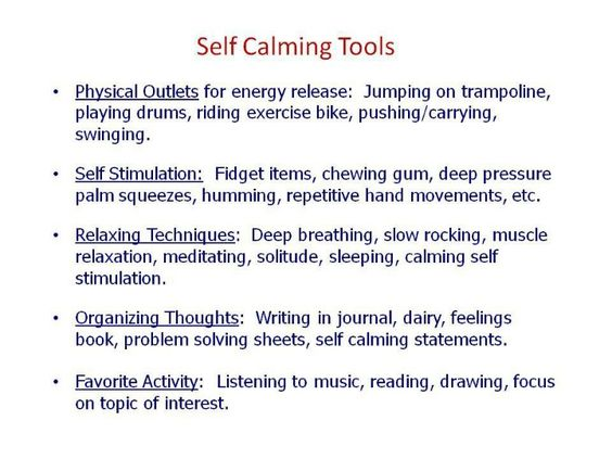 self soothing techniques for adults pdf