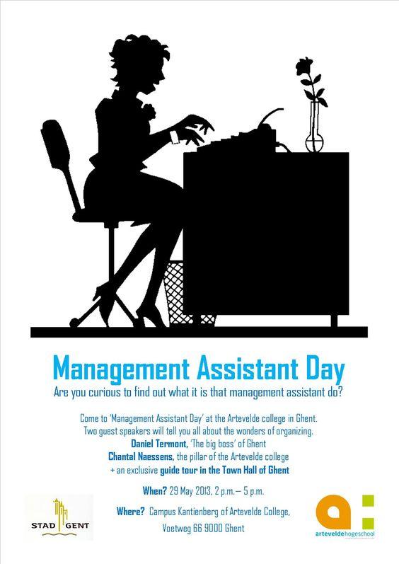 Flyer Management Assistant Day (campaign Engels) School - management assistant sample resume