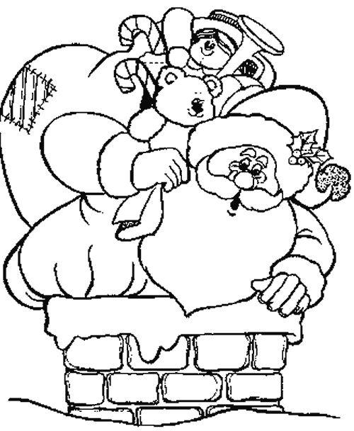 Dibujos coloreados de navidad dibujos para colorear de - Dibujos de chimeneas de navidad ...