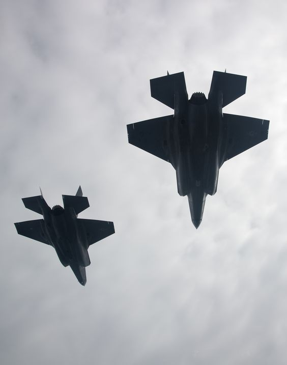 F35B test aircraft in formation - testing handling characteristics - lockheed martin security officer sample resume