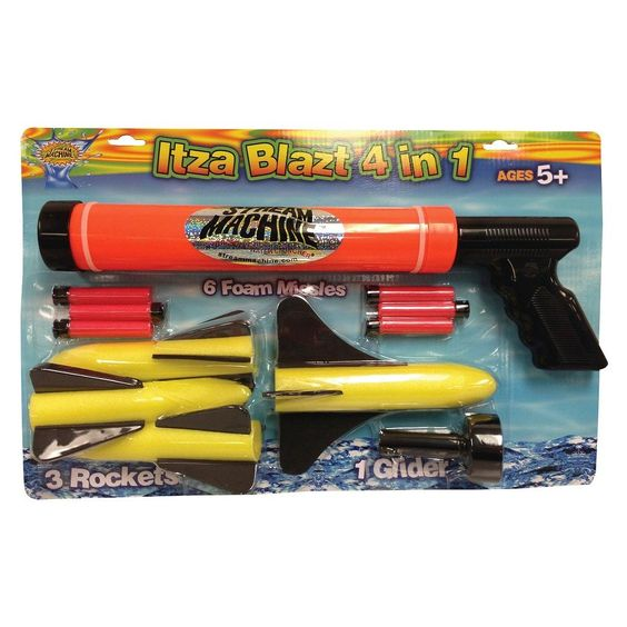 Water Sports ItzaBlatz 4 in 1 Water/Foam Gun Combo Set, Black