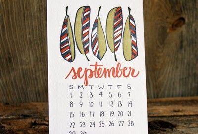 1canoe2 - 2013 Letterpress Calendar