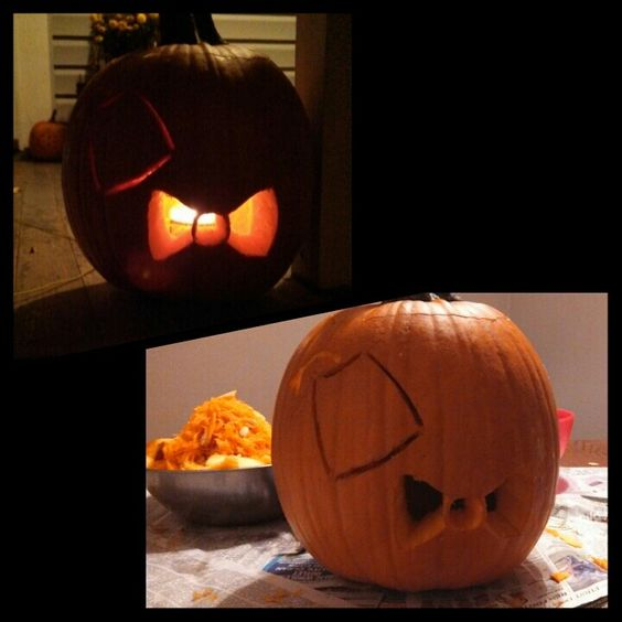 Doctor Who Fez and Bowtie pumpkin!
