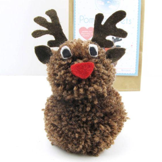 pom pom pets craft kit reindeer by sarah hurley ...: