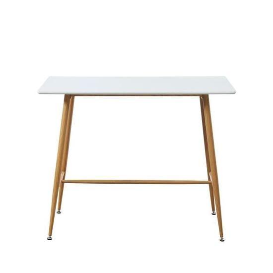 120 x Blanc Table laqué L scandinave l satiné bar ALINA 8PNXwO0kn
