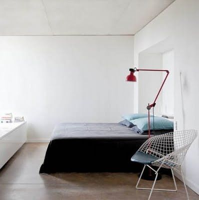 bedroom and lamp