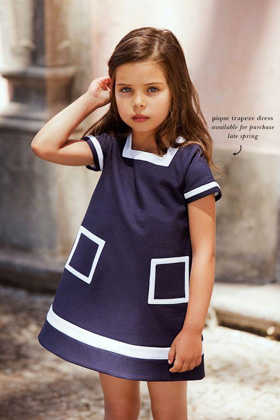 vestido navy de niña