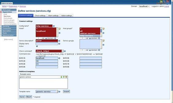 NagiosQL – A interface gráfica para gerir o Nagios