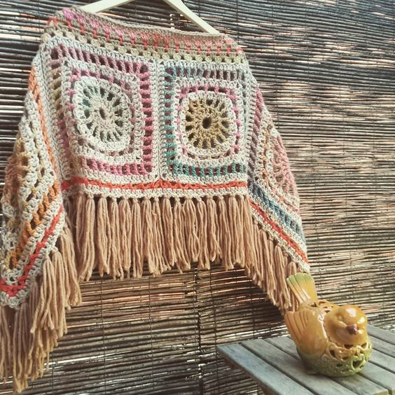 Bohemian Poncho Free Crochet Pattern : Patterns, Inspiration and Boho on Pinterest