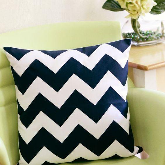 Bungalow 300 - Revivalist Chic: Set of 2 Chevron Pillows via TasteCentral