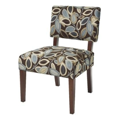 Leaf pattern armless chair from Target.com