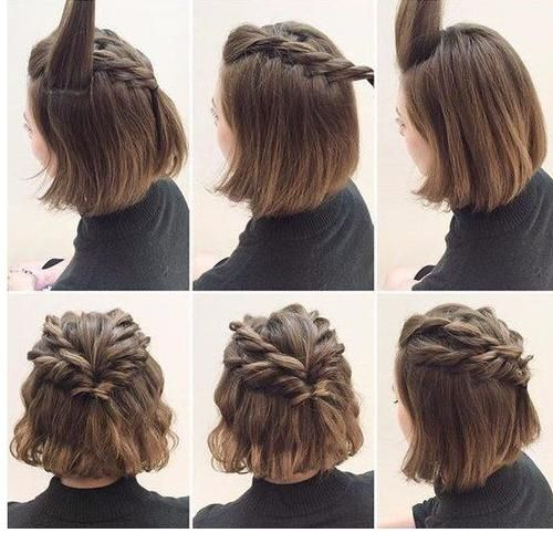 Schone Frisuren Fur Kurze Haare Cute Hairstyles For Short Hair Braided Crown Hairstyles Short Hair Styles
