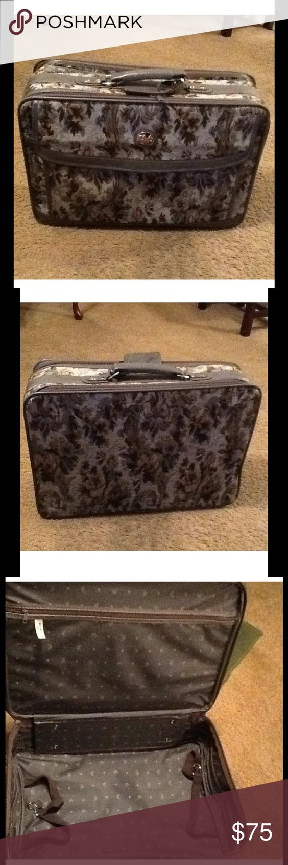 "Vintage Diane Von Furstenberg Luggage Vintage Diane Von Furstenberg Tapestry 20"" luggage. No shoulder strap or small hardware lock. Does have a small fabric pull in the back but it's not noticeable. Diane von Furstenberg Bags Travel Bags"
