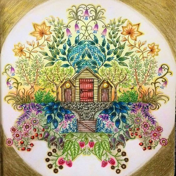 Parece um quadro! @hulya.senhelvacilar -  @edamegitim @esrarengiz_bahce  #jardimsecreto #secretgarden #florestaencantada #enchantedforest #johannabasford #oceanoperdidoinsta #coloringbook #artecomoterapia #editorasextante #livrodecolorir #lapisdecor #gizpastel #colorirévida