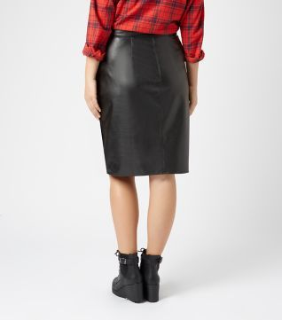 Inspire Black Leather-Look Pencil Skirt | 1 Wishlist (New Look ...